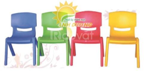 Ghế nhựa đúc mặt cười cho bé