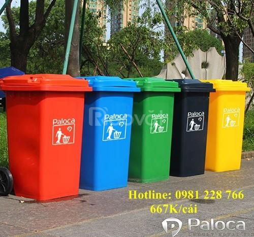Ưu điểm nổi trội của thùng rác 240L làm bằng nhựa HDPE