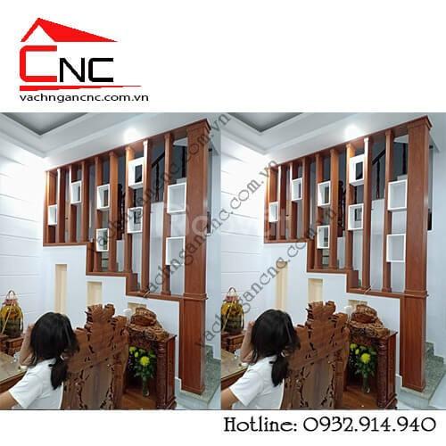 Vai trò làm đẹp của vách ngăn cnc và lam gỗ trang trí cầu thang