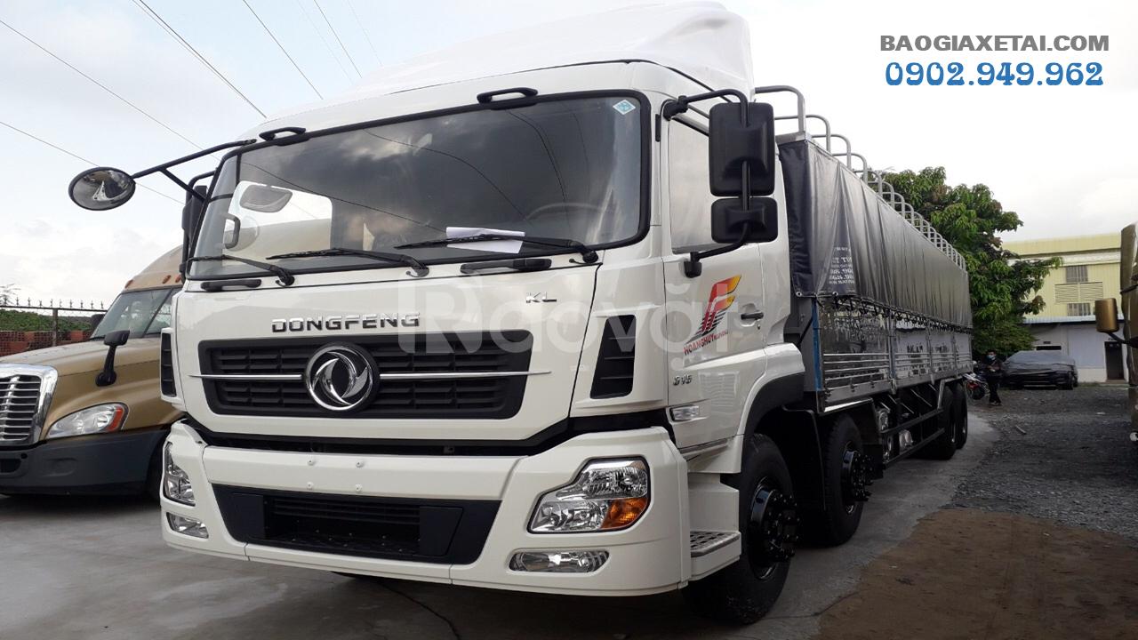 Xe tải 4 chân Dongfeng tải 17T9|Hoàng Huy 4 chân 2019