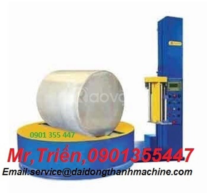 Máy quấn màng pallet WP-55P dùng để quấn pallet nhẹ có tay giữ hàng