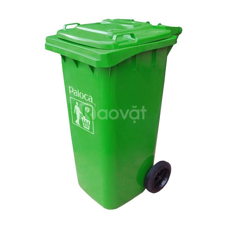 Nhà cung cấp thùng rác 120L nắp kín cao cấp, chuẩn giá  (ảnh 1)