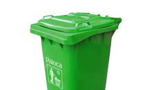 Nhà cung cấp thùng rác 120L nắp kín cao cấp, chuẩn giá