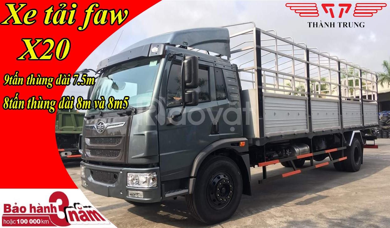 Đại lý xe tải faw 9 tấn - thùng bạt 8 mét đời 2020 | Hỗ trợ trả góp
