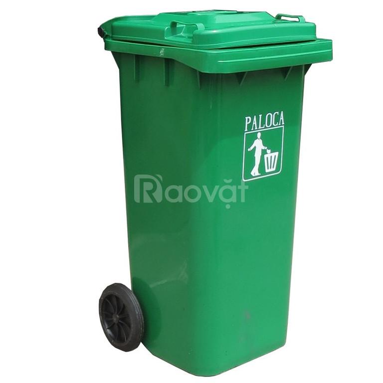 Nhà cung cấp thùng rác 120L nắp kín cao cấp, chuẩn giá  (ảnh 5)