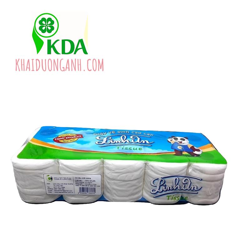 Giấy vệ sinh cao cấp 3 lớp Linh An giá sỉ, giấy vệ sinh tại Trà Vinh