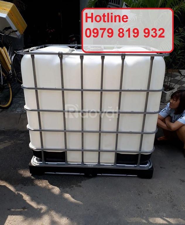 Cung cấp thùng nhựa vuông 1000l bồn nhựa 1000l