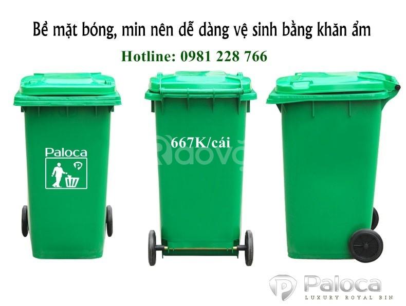 Báo giá thùng rác 240 lít công nghiệp