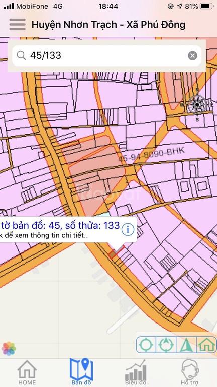 Đất Nhơn Trạch 342m2 mặt tiền đường Hùng Vương khu dân cư