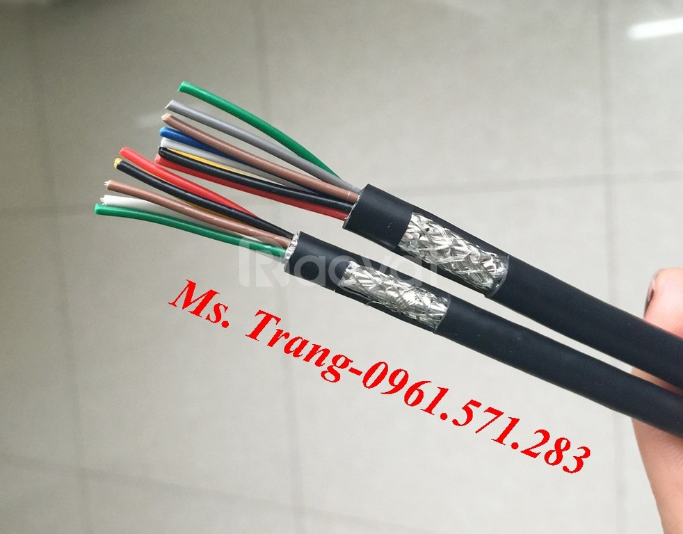 Cáp tín hiệu có màng bọc chống nhiễu 2 lớp tiết diện 0.22mm