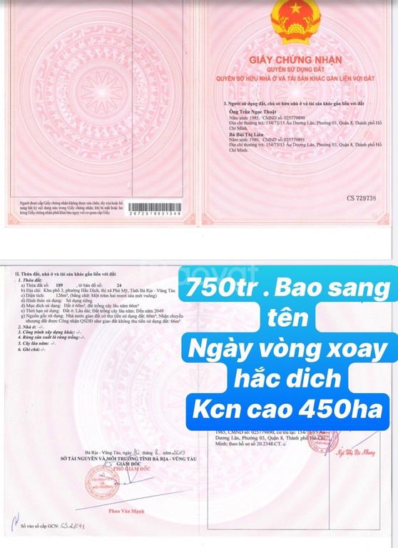 126m2 Hắc Dịch, Phú Mỹ, BTVT