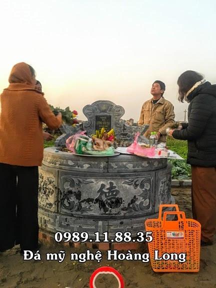 Xây dựng cổng đá nhà thờ họ tại Quảng Trị