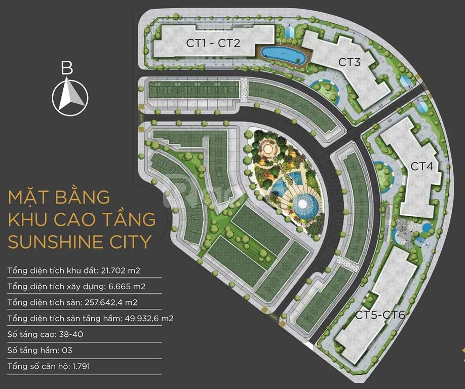Bán căn 2PN dự án Sunshine city nhận nhà ở ngay nội thất dát vàng