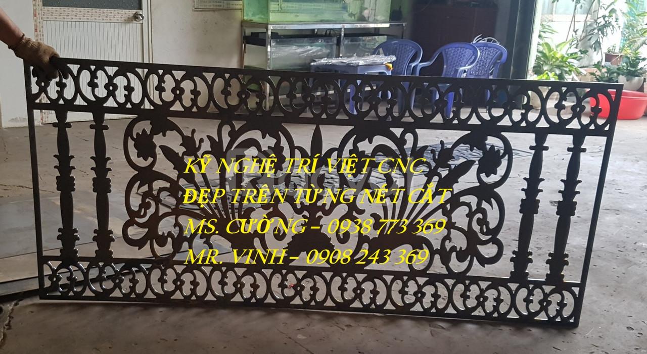 Cửa cổng cnc đẹp, gia công cnc giá rẻ, vách ngăn đẹp