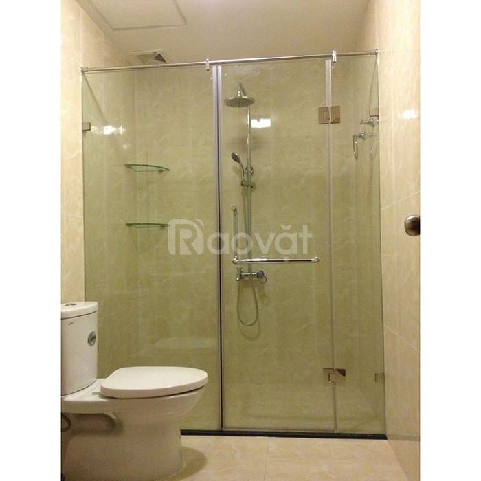 Cửa ngăn vách kính cường lực phòng tắm