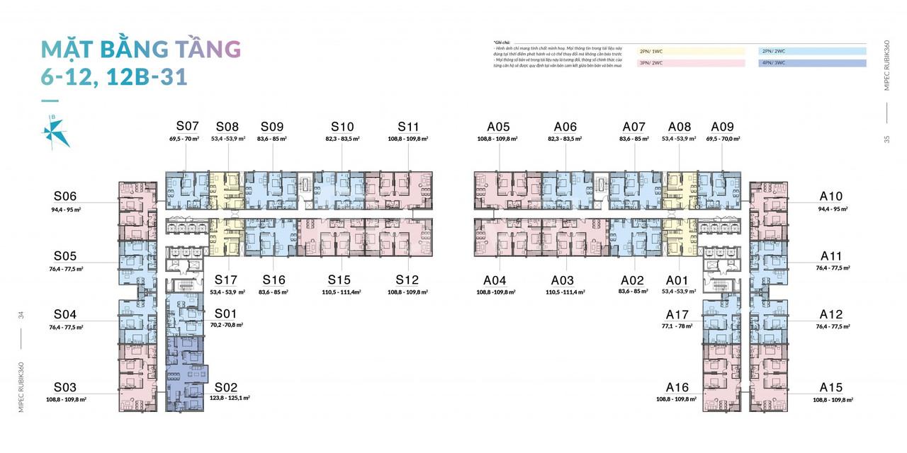 Cần bán gấp căn hộ toà S chung cư Mipec Rubik 360, DT 76m2 thông thủy