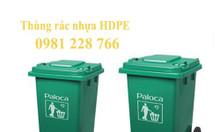 Giá bán thùng rác 240L bằng nhựa HDPE