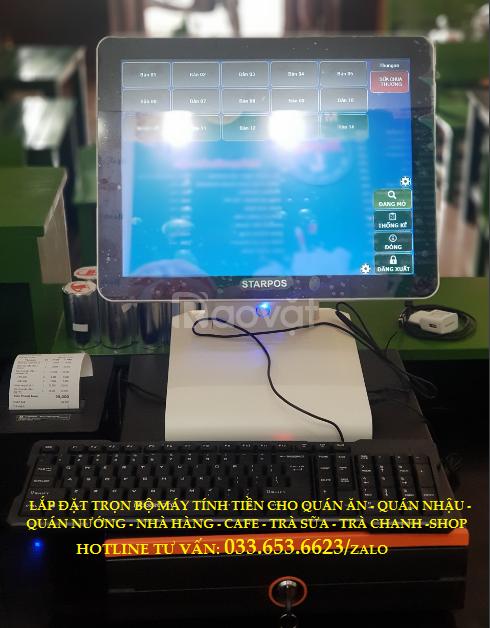 Bán máy tính tiền cho cửa hàng sữa chua trân châu