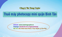 Thuê máy photocopy mini quận Bình Tân