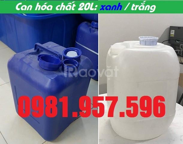 Can nhựa hóa chất 20L, can 20L nhựa HPDE nguyên sinh