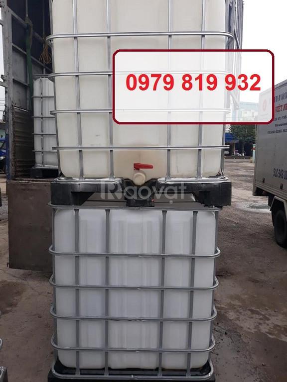Bán tank nhựa vuông bồn nhựa vuông IBC 1000l