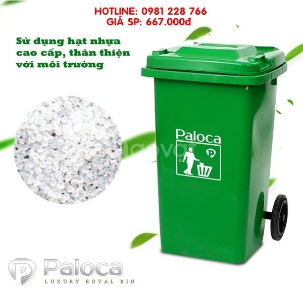 Tại sao nên sử dụng thùng rác nhựa 240L thương hiệu Paloca?