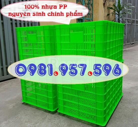 Sọt nhựa đựng hàng may mặc, sọt nhựa kéo hàng cồng kềnh (ảnh 1)