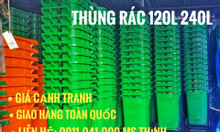 Thùng rác nhựa loại 120lit và 240lit