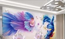 Tranh 3d- tranh gạch men dán tường