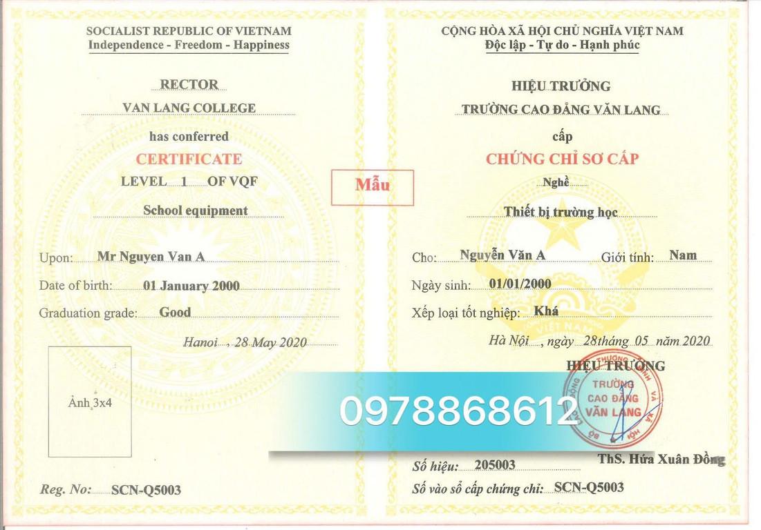 Bồi dưỡng chứng chỉ thiết bị trường học học cấp tốc tại Hà Nội