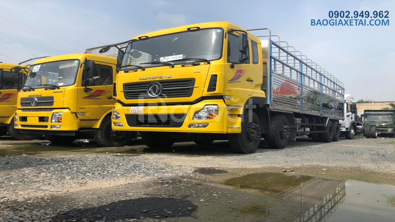 Thanh lý xe tải 4 chân dongfeng hoàng huy tải 17T9 đời 2020