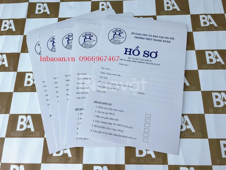 Địa chỉ in túi hồ sơ, in túi tuyển sinh Đại học, báo giá in túi hồ sơ
