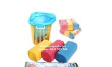 Chuyên sỉ túi đựng rác cuộn, bao đựng rác cuộn 3 màu hoặc đen