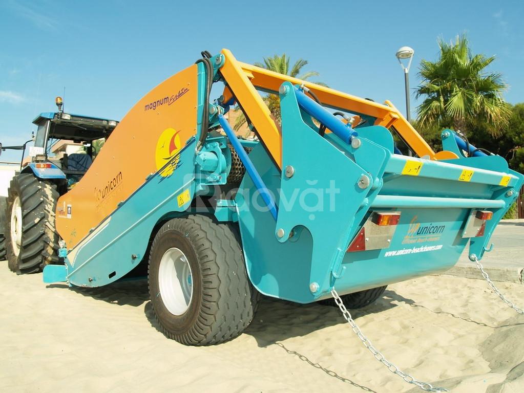 Máy làm sạch bãi biển sử dụng đầu kéo
