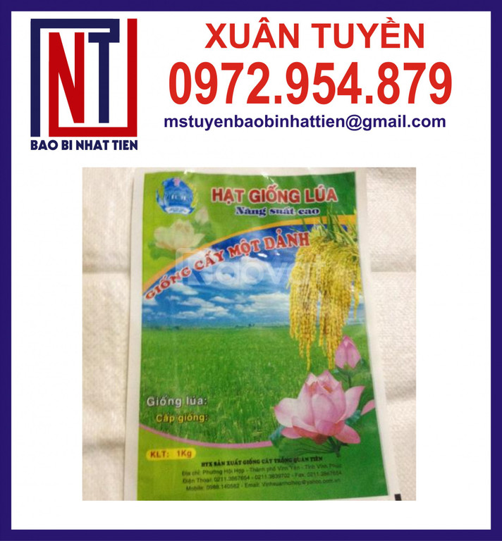 Chuyên in túi đựng lúa giống 1kg (ảnh 5)