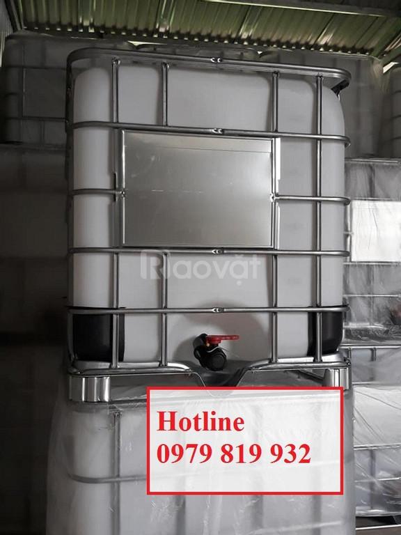 Cung cấp tank nhựa vuông IBC 1000l có khung sắt (ảnh 6)
