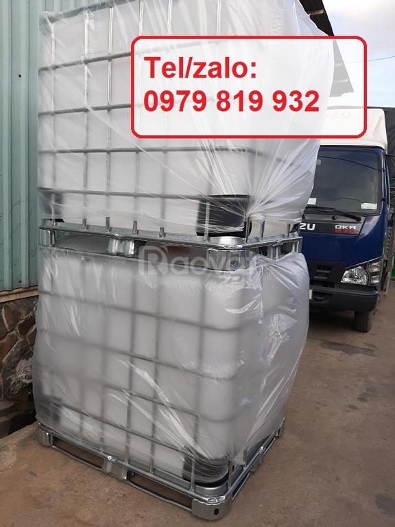 Bán thùng nhựa 1000l có khung sắt mới 100%