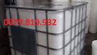 Cung cấp tank nhựa vuông IBC 1000l có khung sắt (ảnh 1)