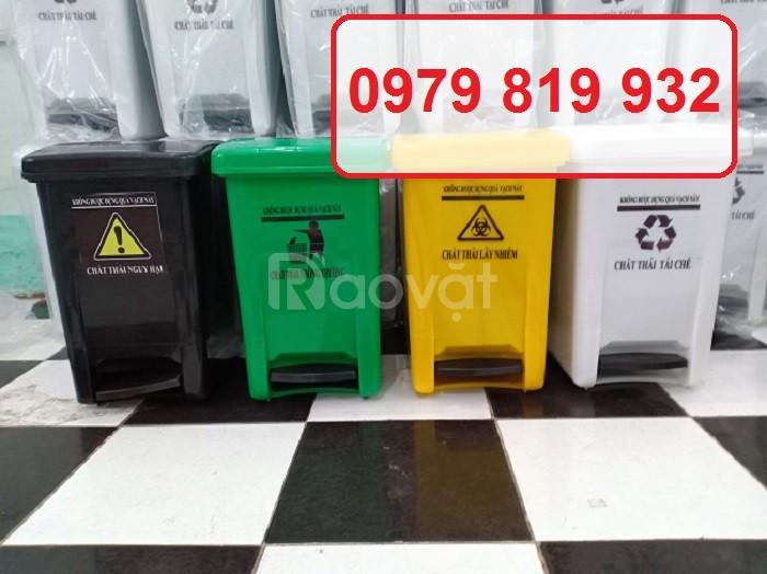 Cung cấp thùng rác y tế 20 lít có đạp chân