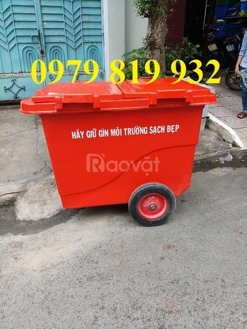Bán xe rác 660l có 3 bánh xe 4 bánh xe
