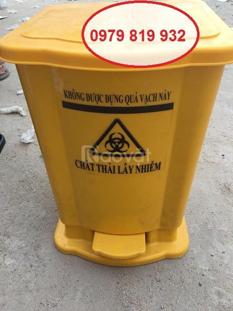 Cung cấp thùng rác đạp chân y tế 20 lít 25 lít màu xanh màu vàng