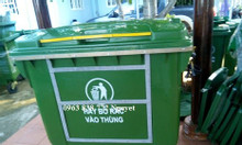 Thùng rác 660 lít nhựa hdpe.