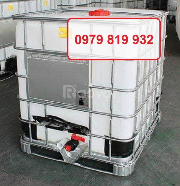 Cung cấp tank nhựa vuông IBC 1000l có khung sắt