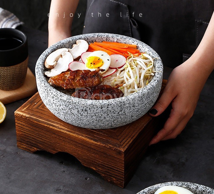 Bán thố đá, nồi đá Hàn Quốc, nồi đá bibimbap, phở thố đá 19 cm