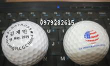 In logo bóng golf bằng công nghệ laser