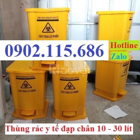 Thùng rác y tế đạp chân, thùng rác y tế, thùng rác y tế 15l, thùng rác