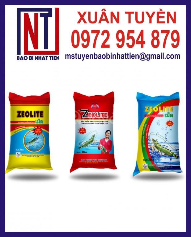 Bao bì đựng hóa chất xử lý thủy sản