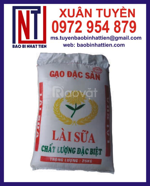 Bao bì đựng gạo, bao bì gạo 25kg