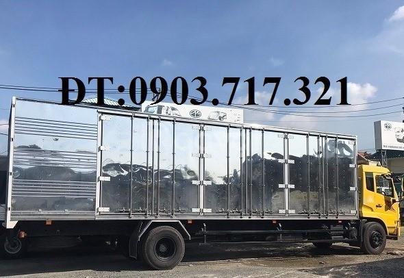 Bán xe tải DongFeng B180 thùng kín dài 9m7 mở 3 cửa hông  Xe mới 2019