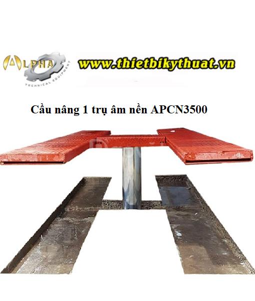 Cầu nâng 1 trụ rửa xe âm nền APCN3500